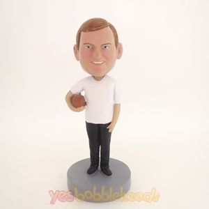 Picture of Custom Bobblehead Doll: Man Holding Football