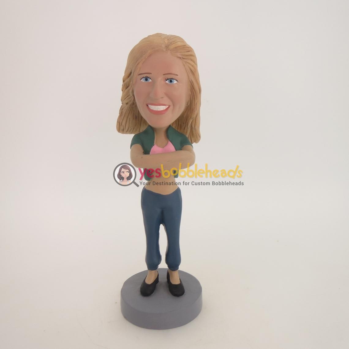 Picture of Custom Bobblehead Doll: Cardigan Girl