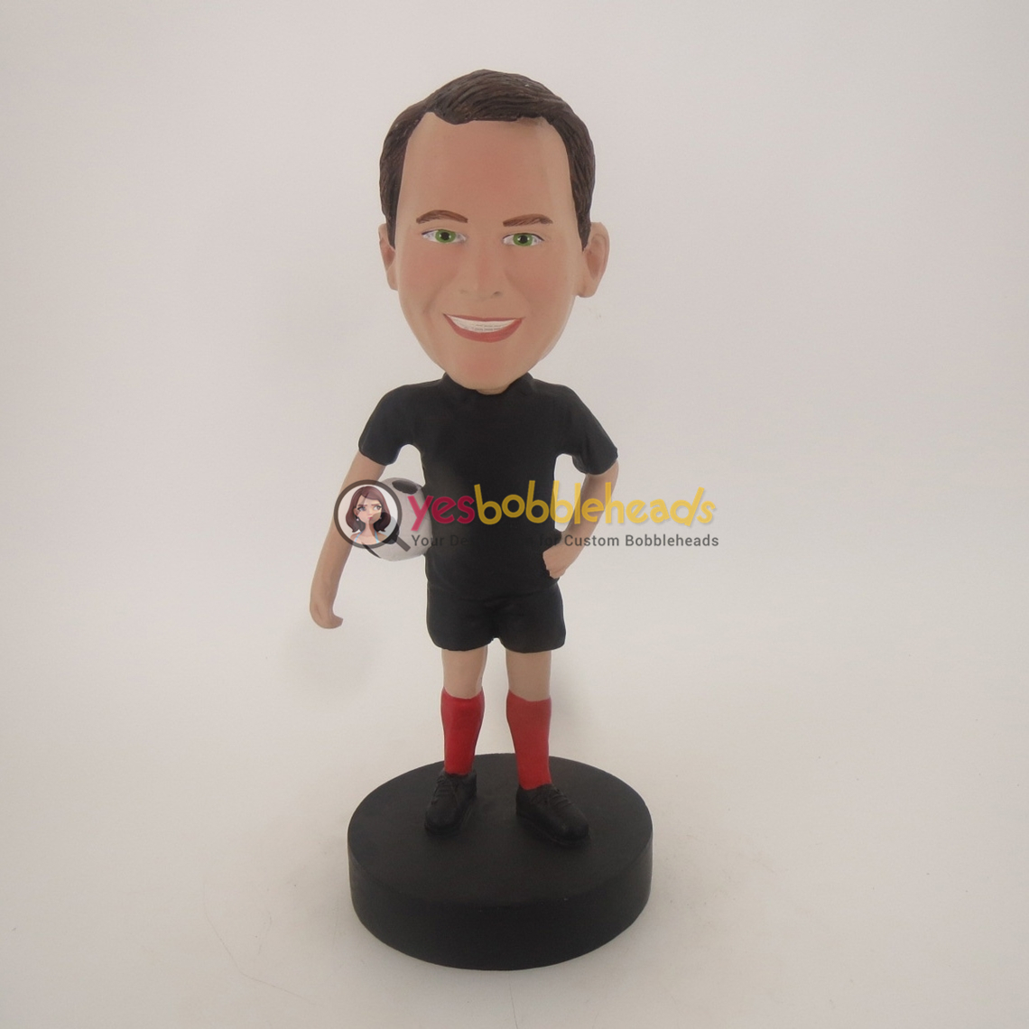 Picture of Custom Bobblehead Doll: Man Holding Soccer