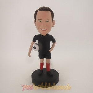 Picture of Custom Bobblehead Doll: Man Holding Soccer