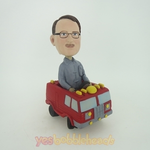 Picture of Custom Bobblehead Doll: Man In Fire Engine