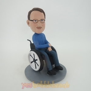 Picture of Custom Bobblehead Doll: Man In Wheelchair