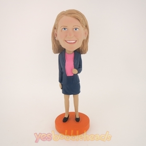 Picture of Custom Bobblehead Doll: Dark Blue Jacket Girl
