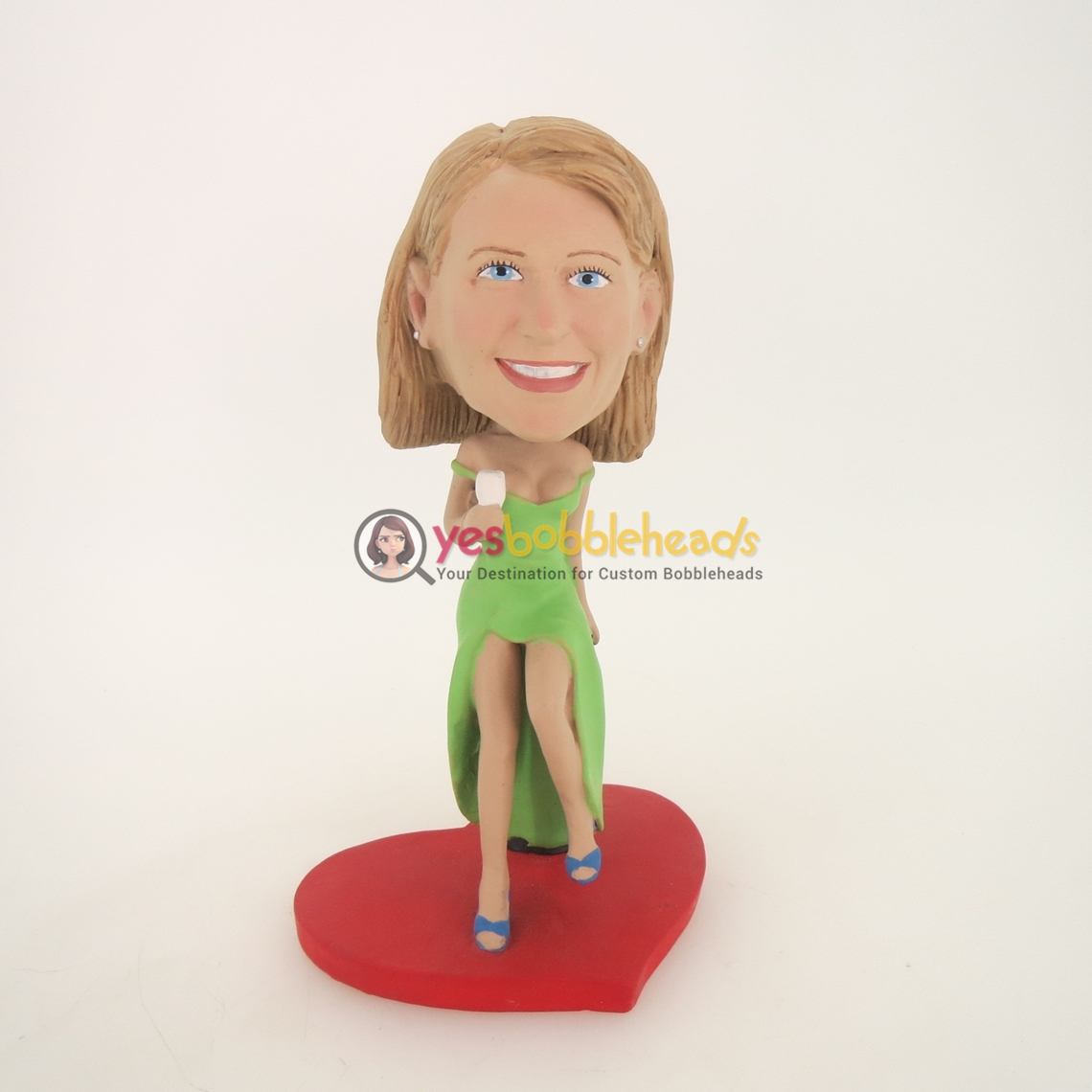 Picture of Custom Bobblehead Doll: Drinking Woman