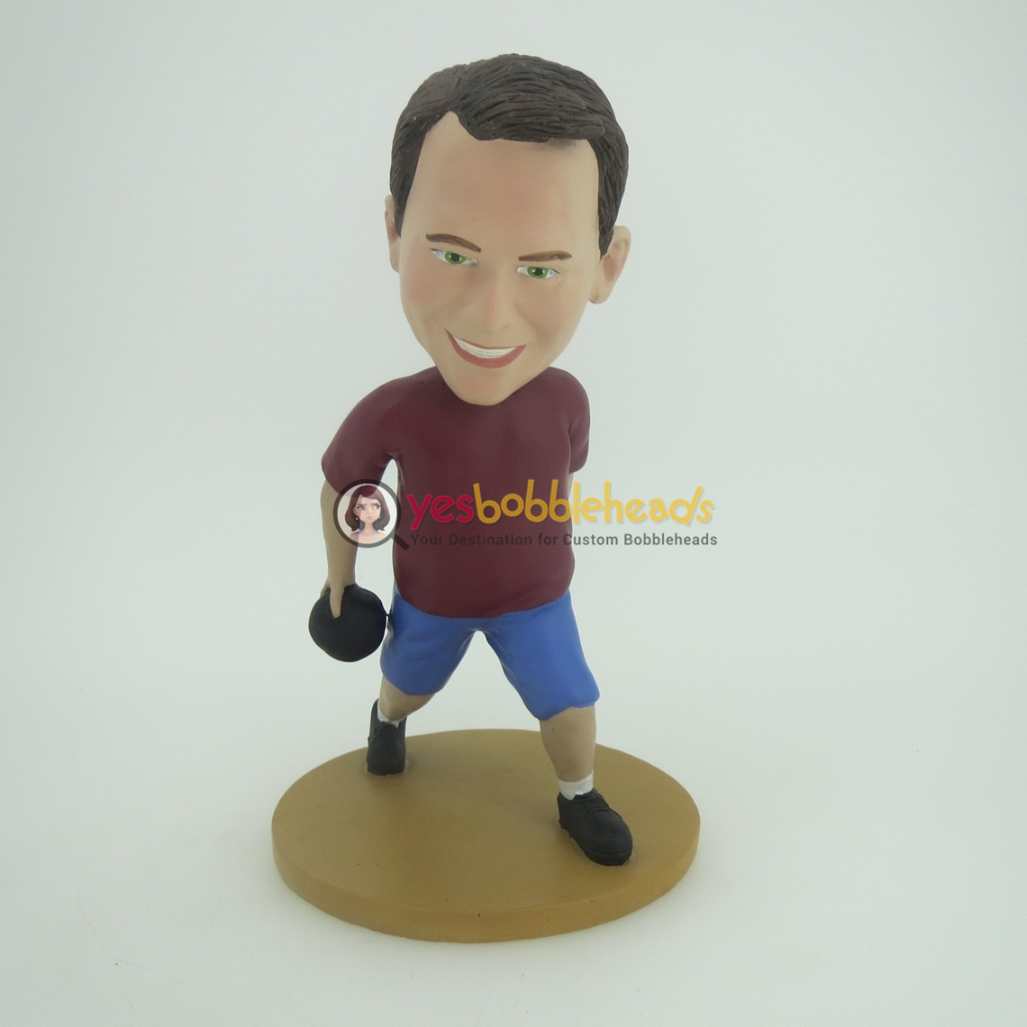 Picture of Custom Bobblehead Doll: Man Playing Bowling