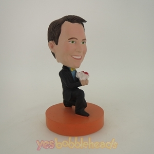 Picture of Custom Bobblehead Doll: Man Propose