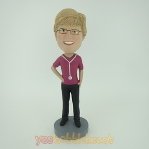 Picture of Custom Bobblehead Doll: Female Doctor