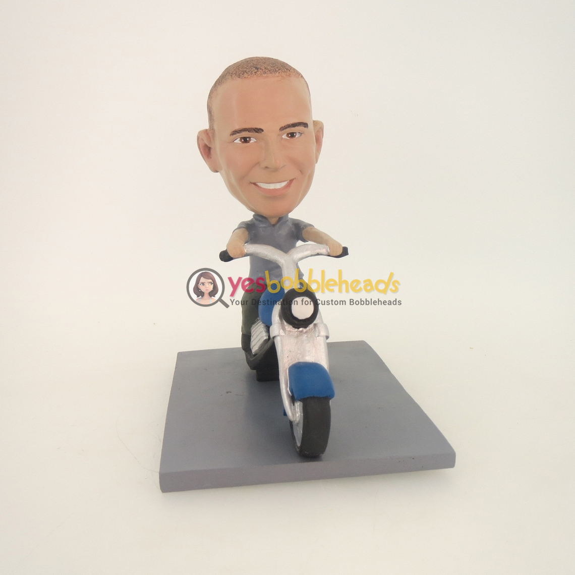 Picture of Custom Bobblehead Doll: Man Riding Motorcycle