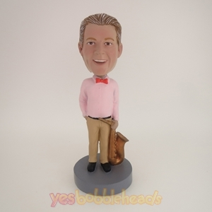 Picture of Custom Bobblehead Doll: Man Standing With Sax