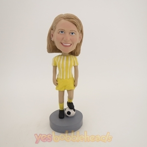Picture of Custom Bobblehead Doll: Female Soccer Player