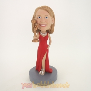 Picture of Custom Bobblehead Doll: Female Super Star