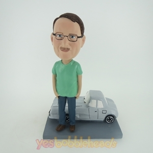 Picture of Custom Bobblehead Doll: Man With Car