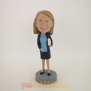 Picture of Custom Bobblehead Doll: Female Teacher with Book
