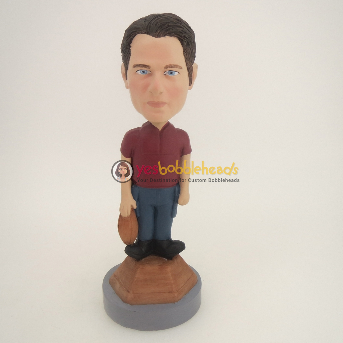 Picture of Custom Bobblehead Doll: Man With Football