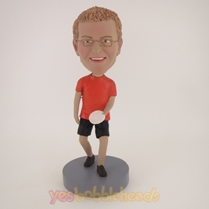 Picture of Custom Bobblehead Doll: Man With Frisbee