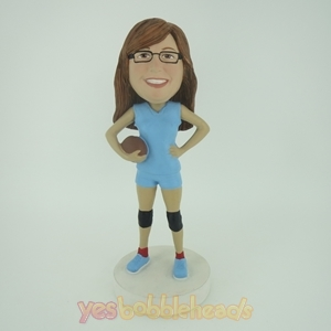 Picture of Custom Bobblehead Doll: Footerball Girl