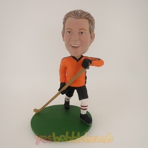 Picture of Custom Bobblehead Doll: Man With Hockey Stick