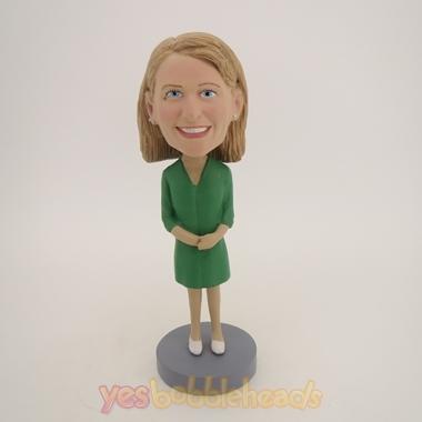 Picture of Custom Bobblehead Doll: Green Dress Girl