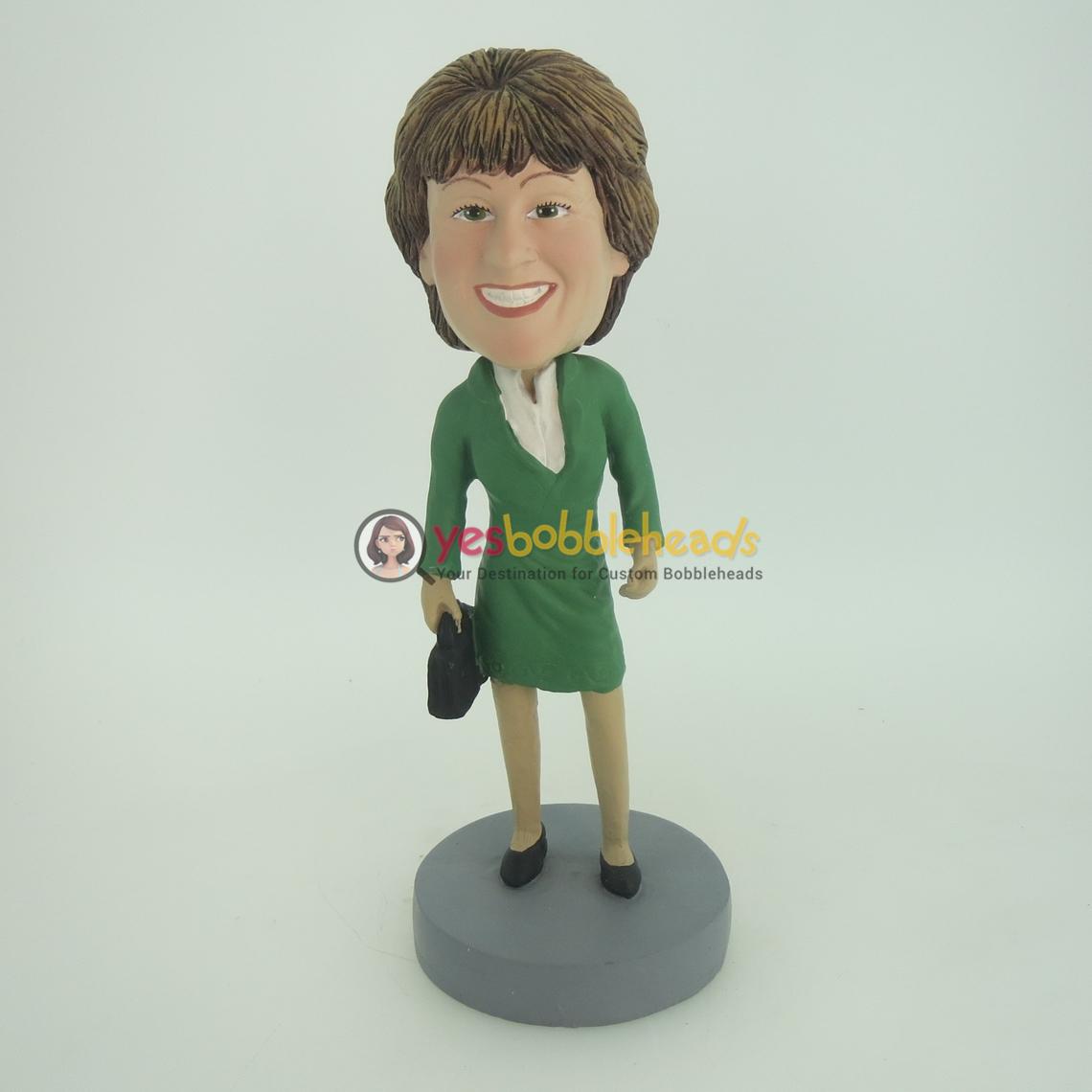 Picture of Custom Bobblehead Doll: Green Dress Woman