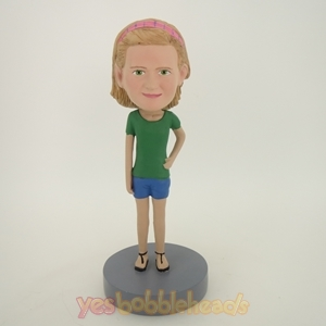 Picture of Custom Bobblehead Doll: Green Sleeves Girl