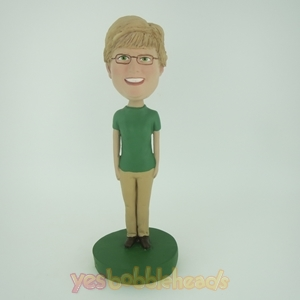 Picture of Custom Bobblehead Doll: Green Sleeves Woman