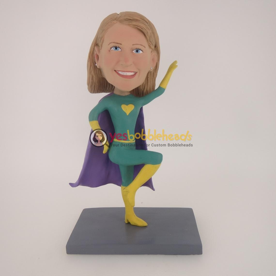 Picture of Custom Bobblehead Doll: Green Super Girl