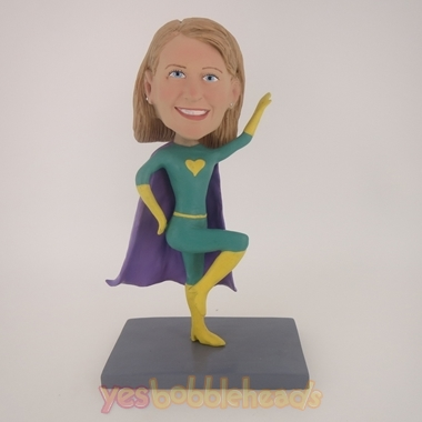 Picture of Custom Bobblehead Doll: Green Super Girl