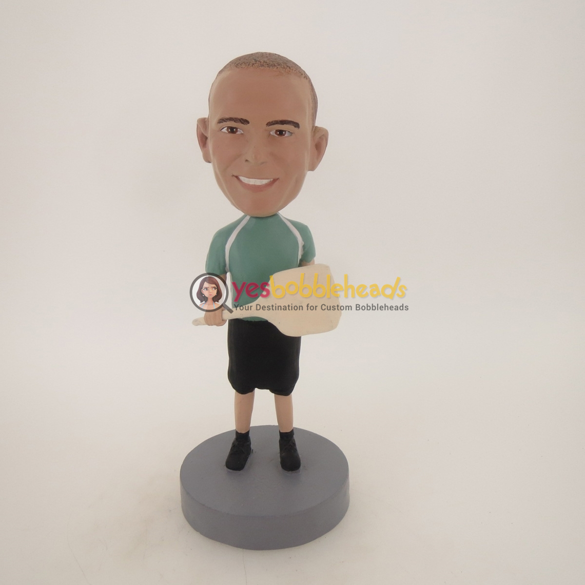 Picture of Custom Bobblehead Doll: Man With Racket