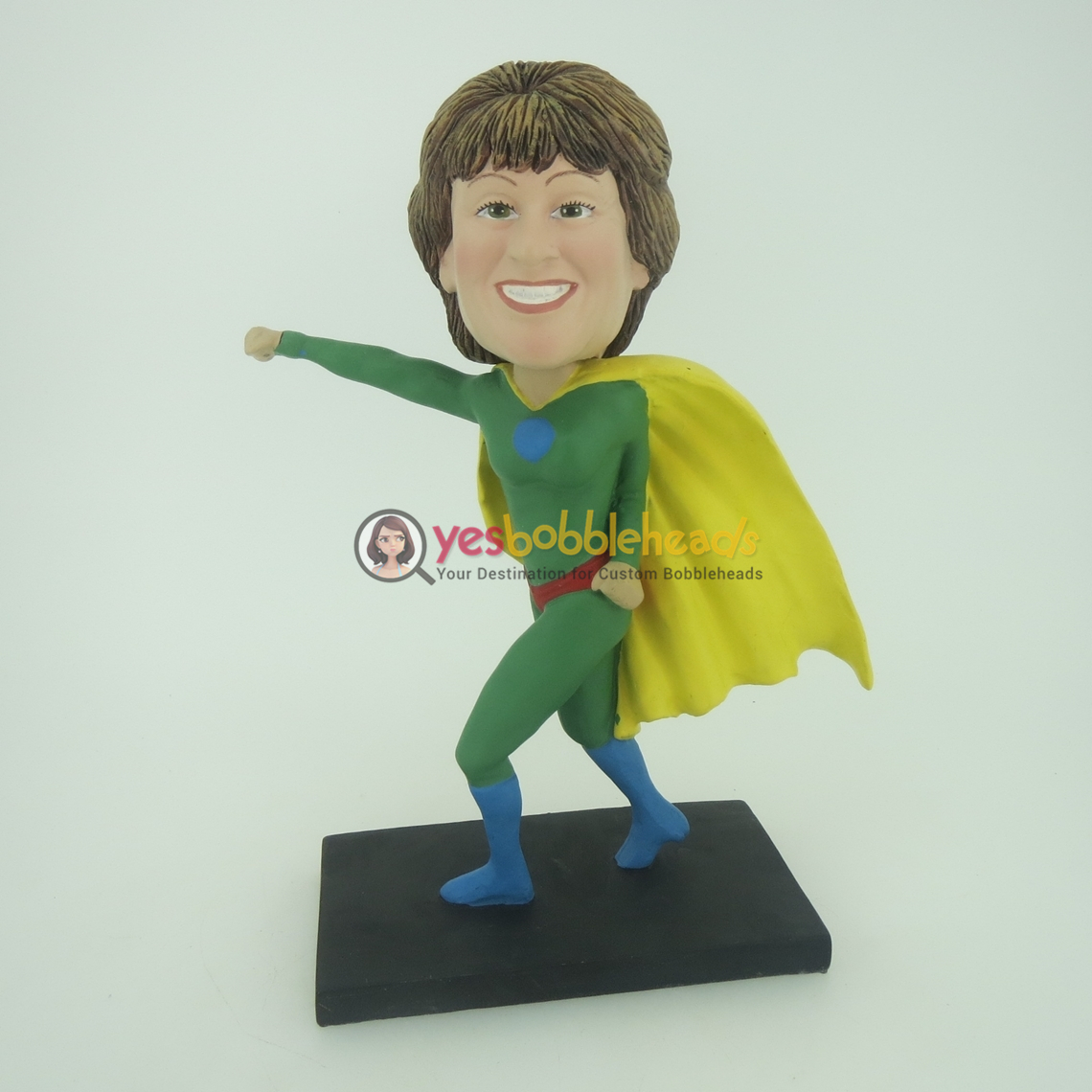 Picture of Custom Bobblehead Doll: Green Superwoman