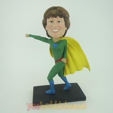 Picture of Custom Bobblehead Doll: Green Superwoman
