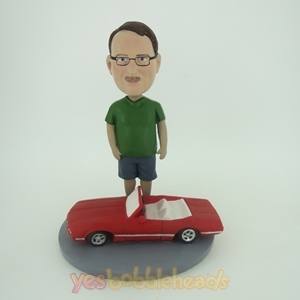 Picture of Custom Bobblehead Doll: Man With Sports Car