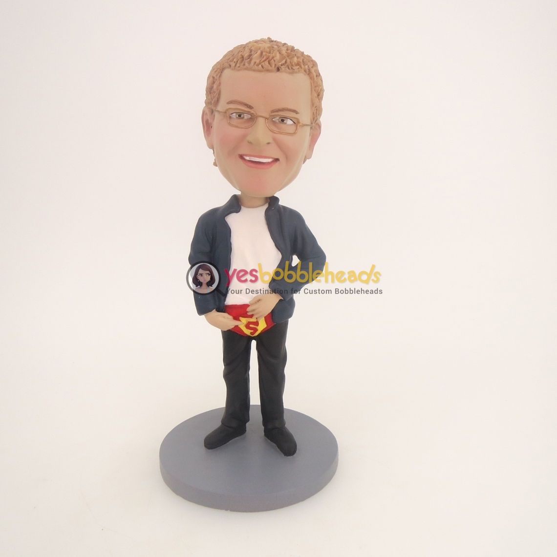 "Picture of Custom Bobblehead Doll: Man With ""S"" Underwear"