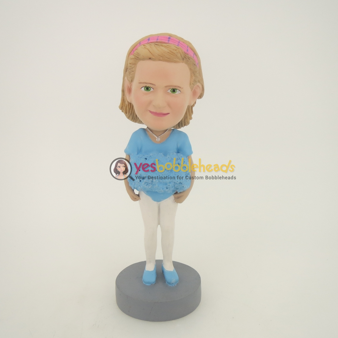 Picture of Custom Bobblehead Doll: Light Blue Clothes Girl