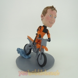Picture of Custom Bobblehead Doll: Motorcycle Racing Driver