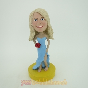 Picture of Custom Bobblehead Doll: Light Blue Wedding Girl