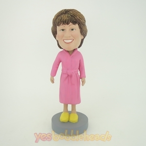 Picture of Custom Bobblehead Doll: Pink Bathrobe Woman