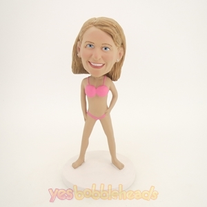 Picture of Custom Bobblehead Doll: Pink Bikini Woman