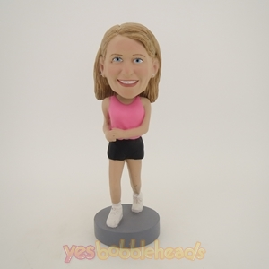 Picture of Custom Bobblehead Doll: Pink Jogging Girl