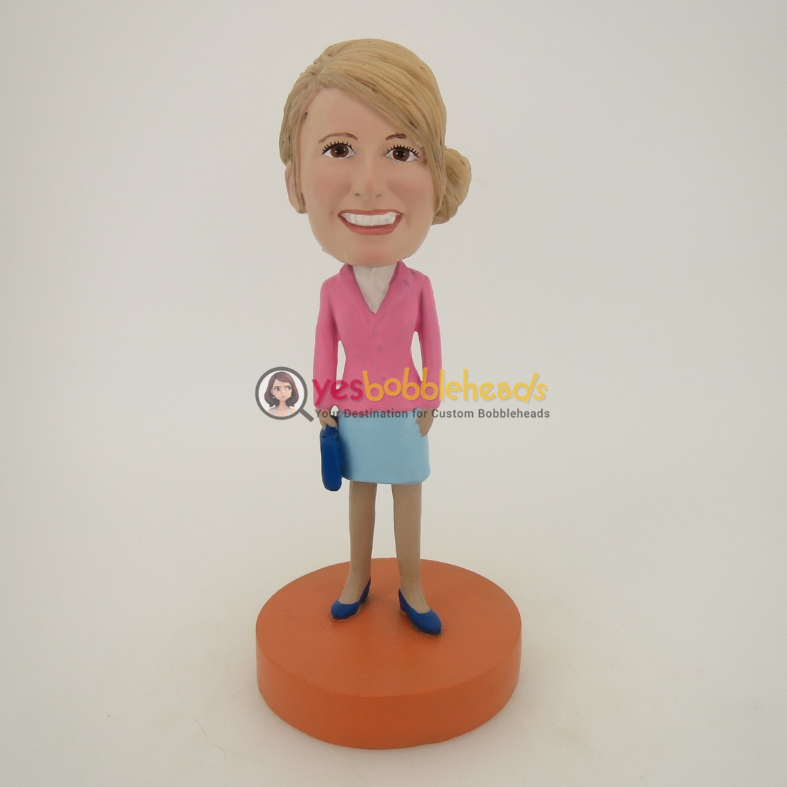 Picture of Custom Bobblehead Doll: Pink Suit Woman