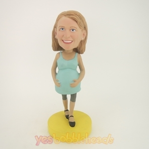 Picture of Custom Bobblehead Doll: Pregnant Woman