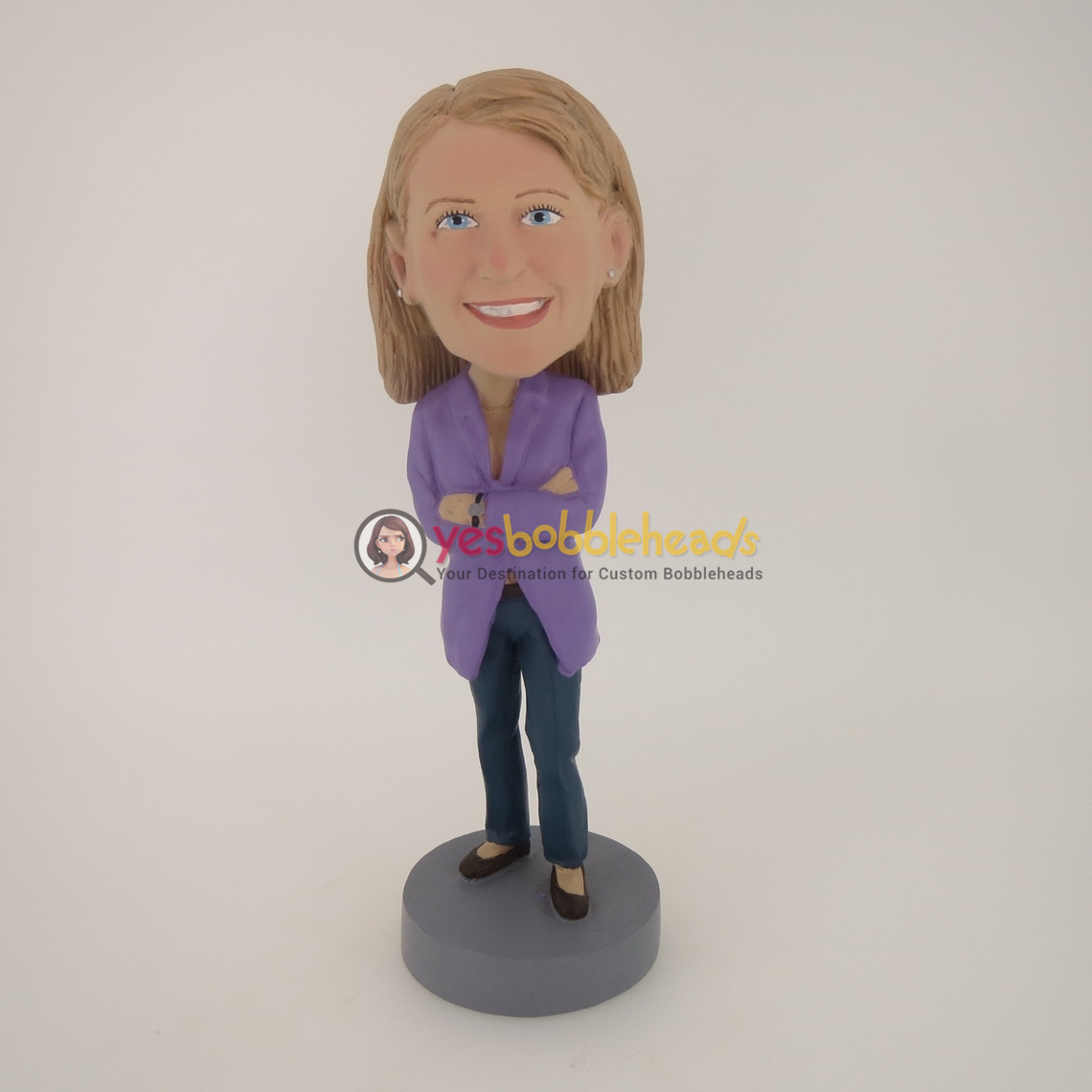 Picture of Custom Bobblehead Doll: Purple Jacket Girl