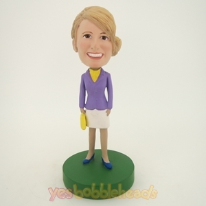 Picture of Custom Bobblehead Doll: Purple Suit Girl