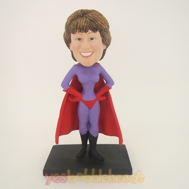 Picture of Custom Bobblehead Doll: Purple Super Woman
