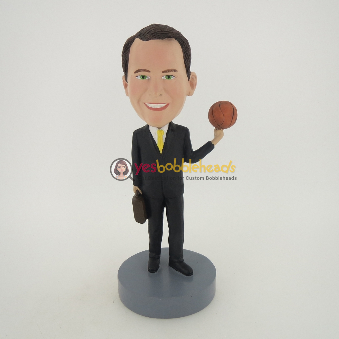 Picture of Custom Bobblehead Doll: Office Man Spinning Basketball