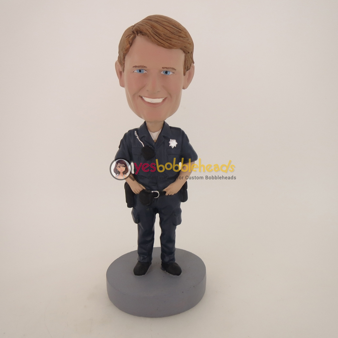 Picture of Custom Bobblehead Doll: Police Officer With Walkie Talkie