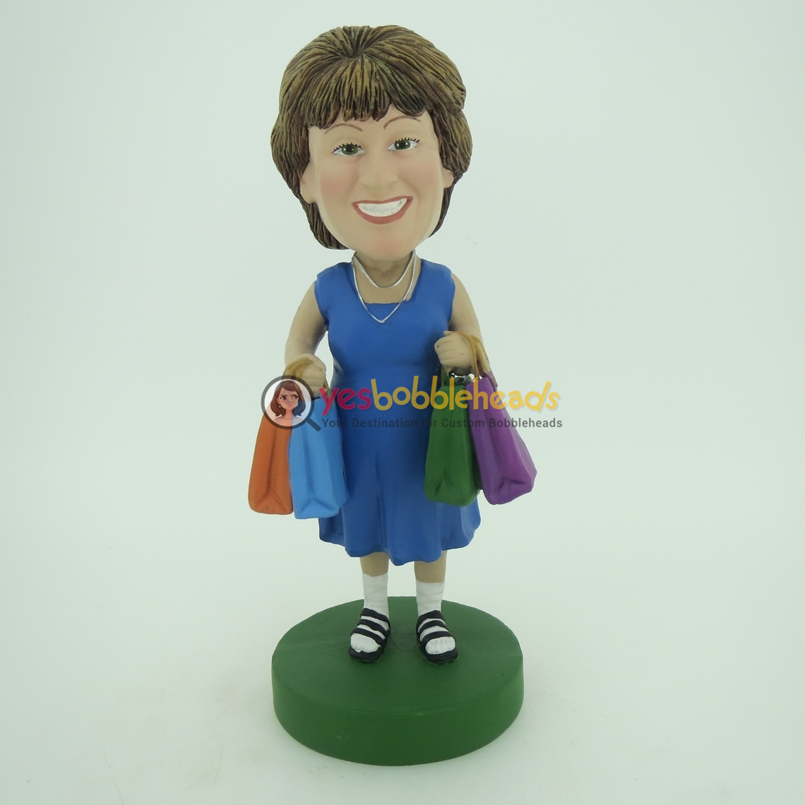 Picture of Custom Bobblehead Doll: Shopping Woman