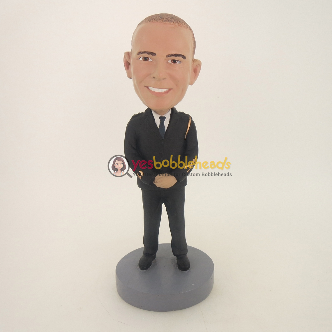 Picture of Custom Bobblehead Doll: Police Uniform Man