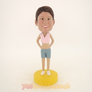 Picture of Custom Bobblehead Doll: Short Vest Woman