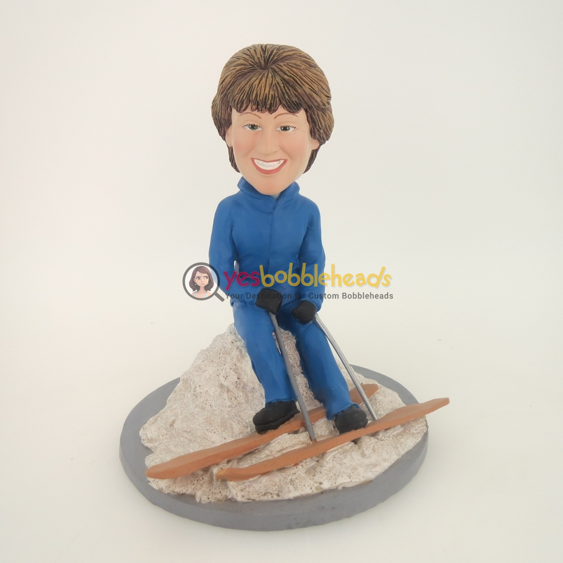 Picture of Custom Bobblehead Doll: Skiing Woman