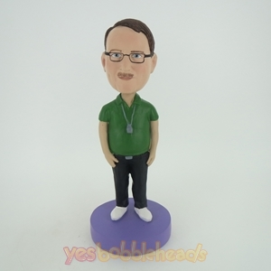 Picture of Custom Bobblehead Doll: Referee With Green Shirt